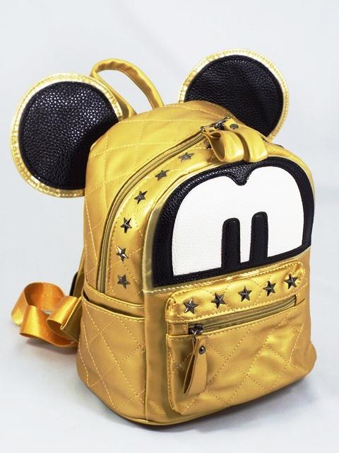Rucsac dama auriu Mickey
