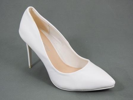 Pantofi dama albi lac toc 9 cm Dina