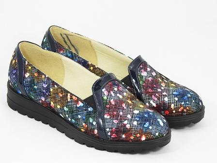 Pantofi dama piele bleumarin pastel Rody