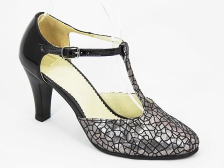 Pantofi dama piele bronz argintiu Elvira