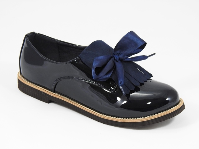 Pantofi fetite bleumarin Ana