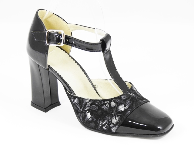 Pantofi dama piele intoarsa negri cu argintiu Valina2