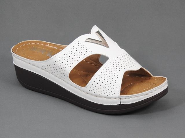 Papuci dama albi Serena