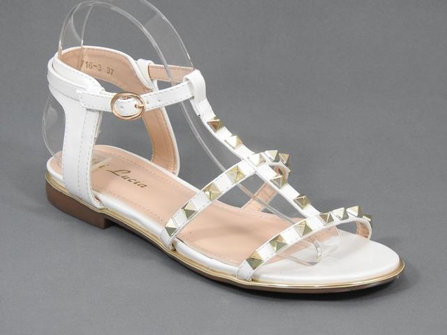 Sandale dama albe Galena