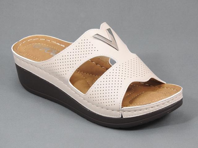 Papuci dama bej Serena
