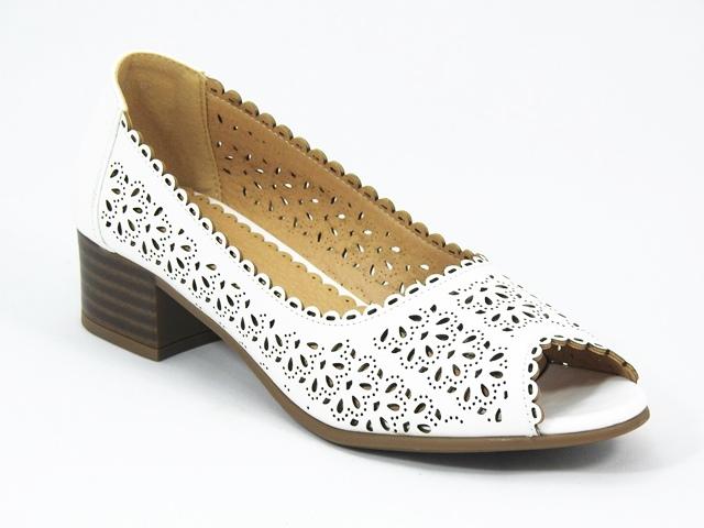 Pantofi dama albi Melia