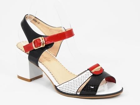 Sandale dama alb cu bleumarin Doina