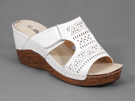 Papuci dama albi Aliss