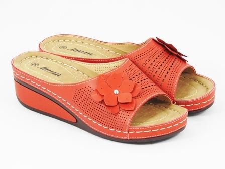 Papuci dama rosii Karla