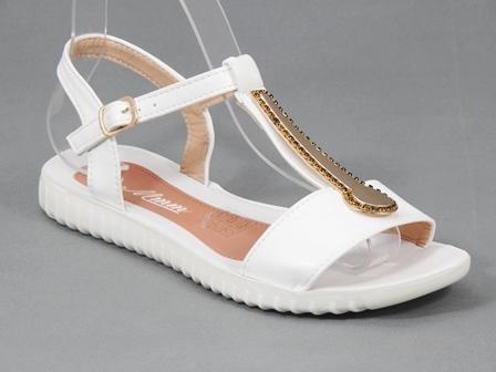 Sandale dama albe Toscana