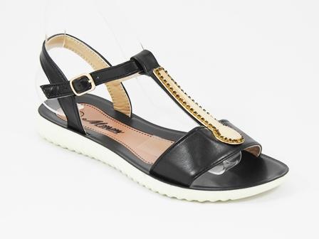 Sandale dama negre Toscana