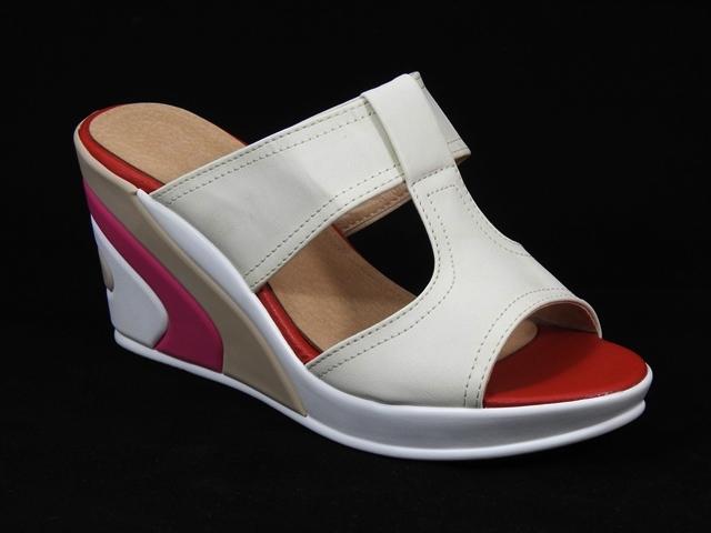 Papuci dama albi Olimpia