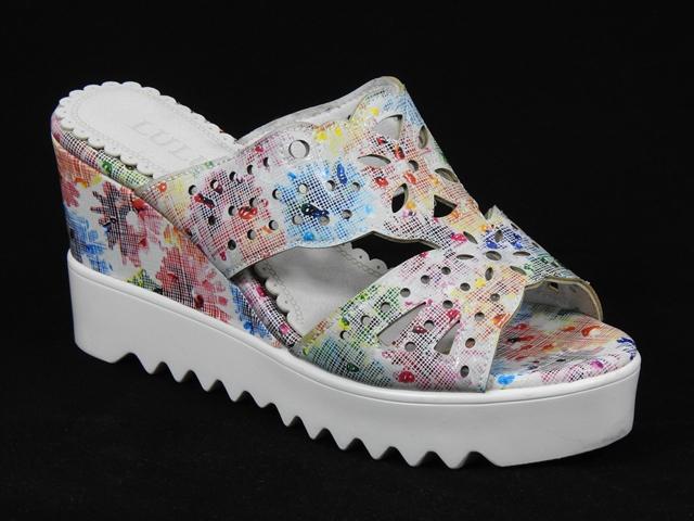 Papuci dama multicolori Ana