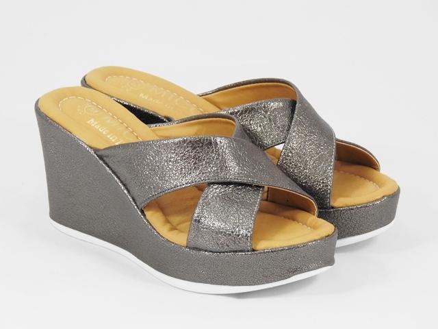 Papuci dama bronz metalizat Daria