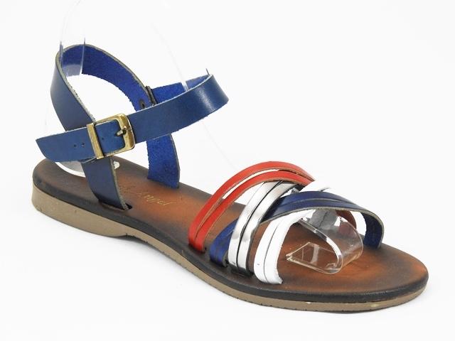 Sandale dama piele albastre Helga