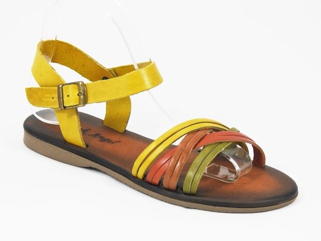 Sandale dama piele galbene Helga