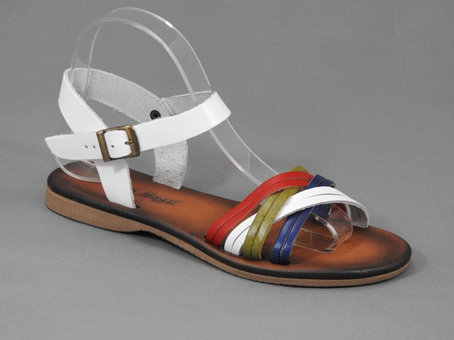 Sandale dama piele albe Helga