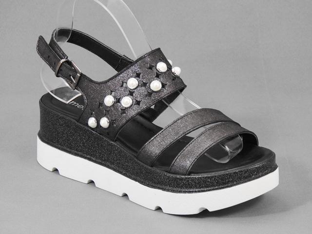 Sandale dama piele negre Etiope