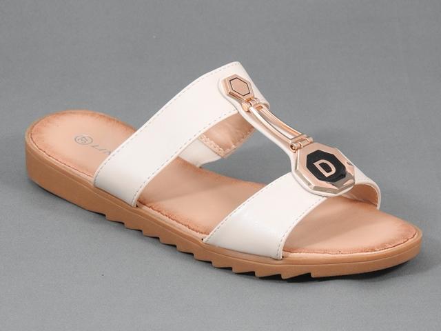 Papuci dama bej Aura