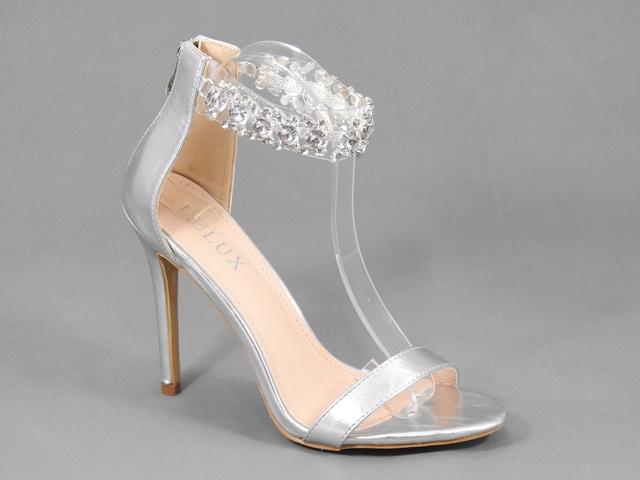 Sandale dama argintii Ileana