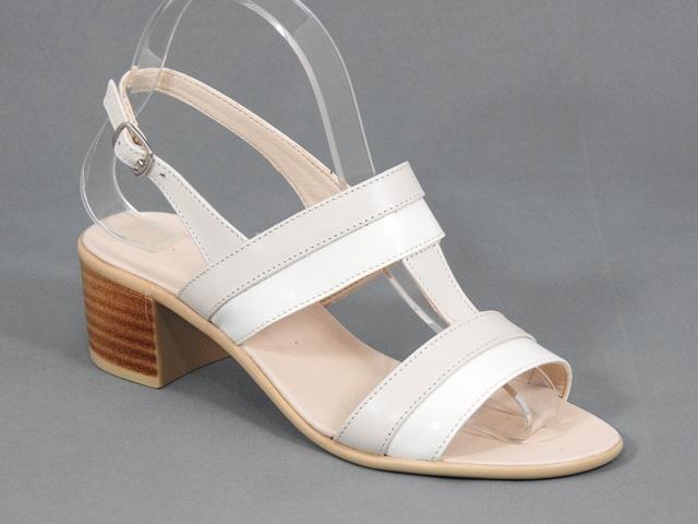 Sandale dama piele bej Zara