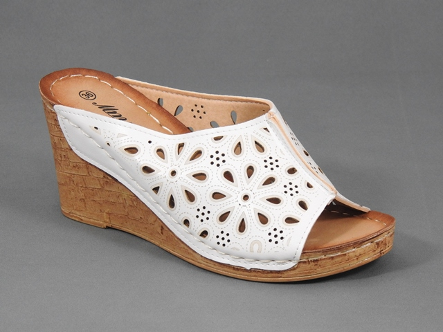 Papuci dama albi Florine