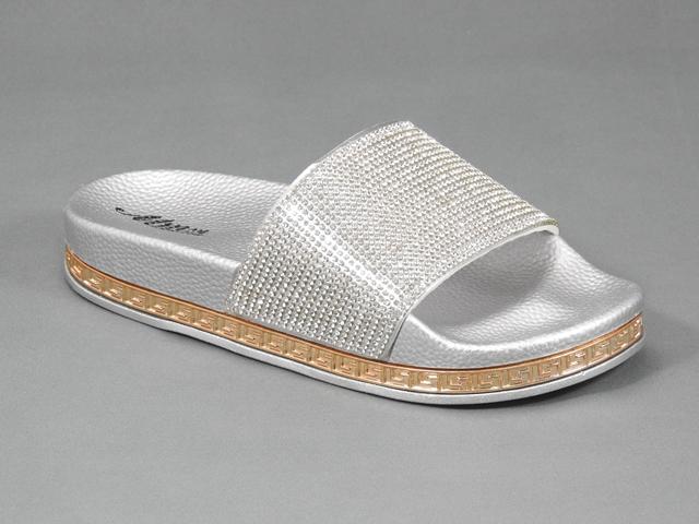 Papuci dama argintii Ryna