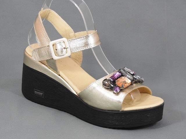 Sandale dama piele aurii Adina