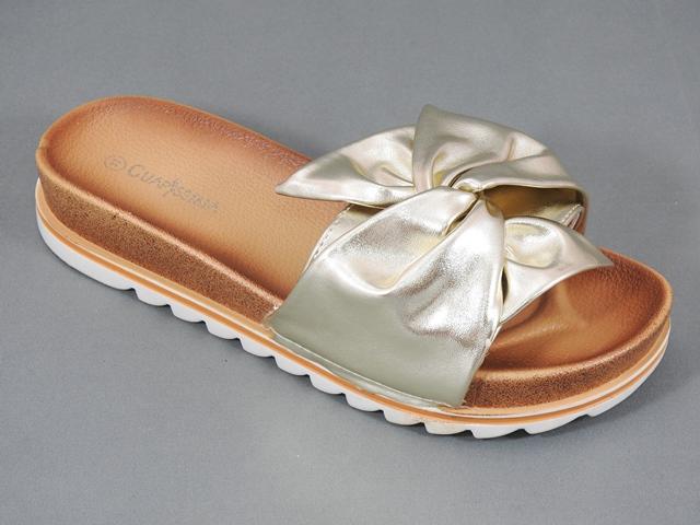 Papuci dama aurii Ecaterina