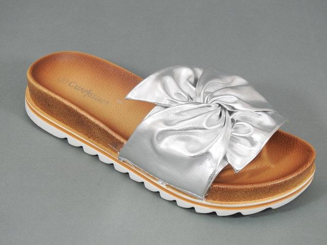 Papuci dama argintii Ecaterina