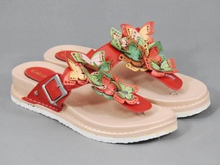 Papuci dama rosii Dania