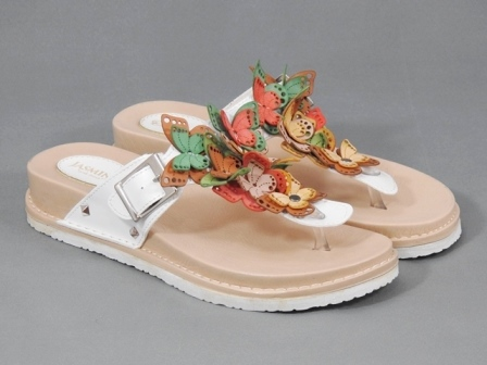 Papuci dama albi Dania