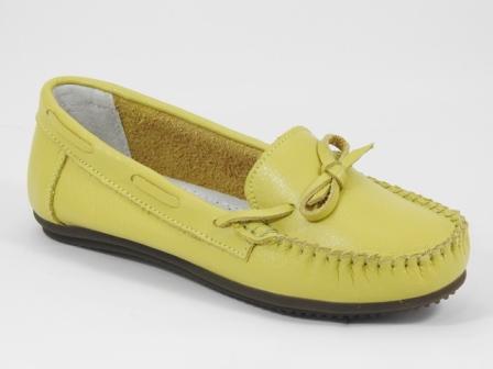 Pantofi dama piele galbeni Lilia