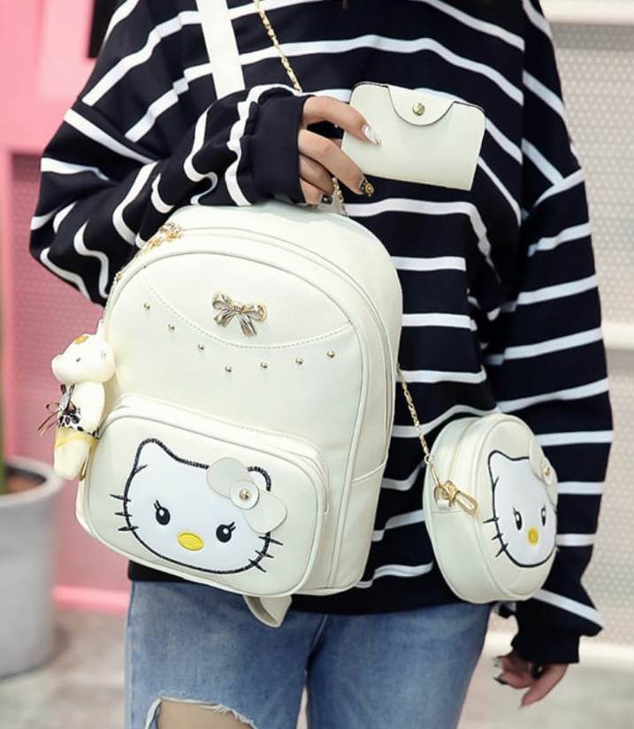 Rucsac dama bej 3 in 1 KITTY
