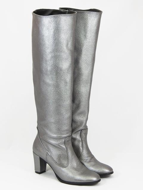 Cizme dama piele argintii Egreta