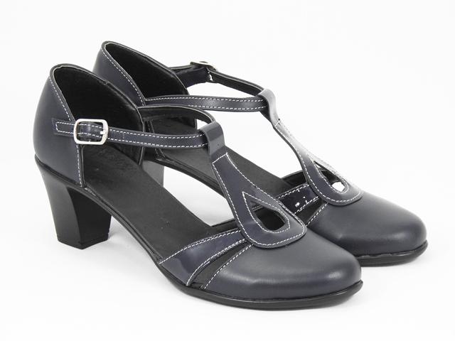 Sandale dama piele bleumarin Alina