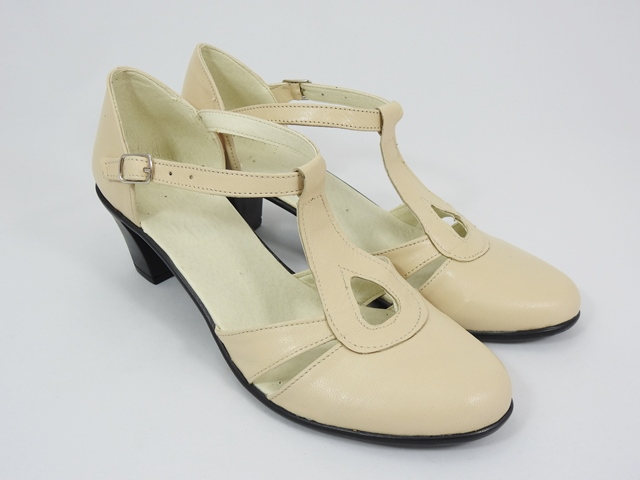 Sandale dama piele bej Alina
