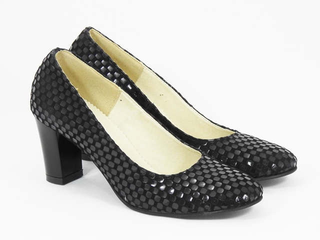 Pantofi dama piele negri Leona