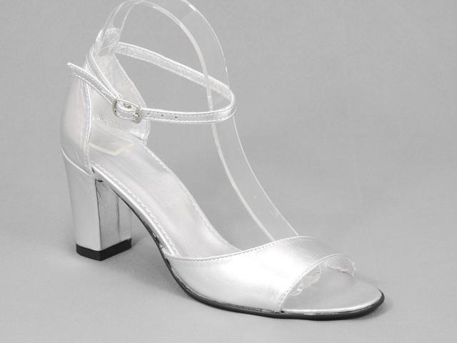 Sandale dama piele argintii Ekaterina