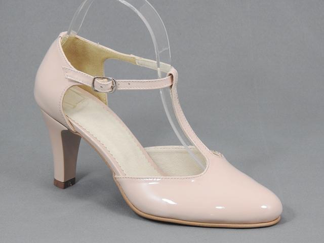 Pantofi dama piele bej nude Teodora