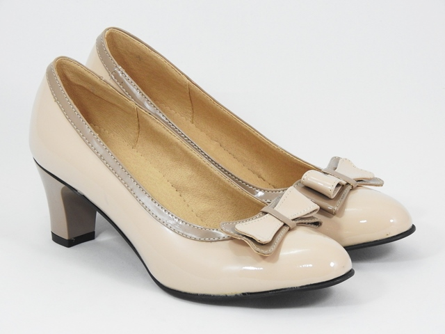 Pantofi dama piele bej nude Daria