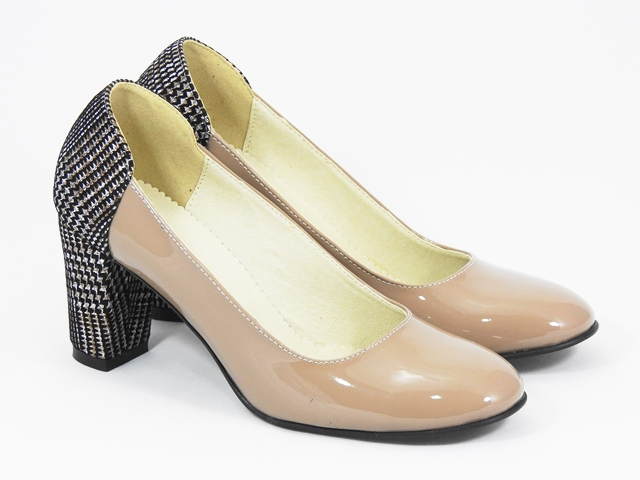 Pantofi dama piele bej Larisa