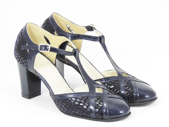 Sandale dama piele bleumarin Caliope
