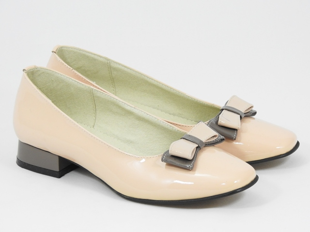 Pantofi dama piele bej nude Marisa