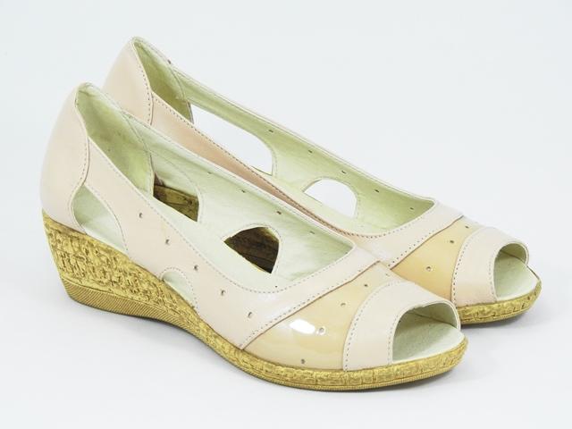 Sandale dama piele bej roze Alina