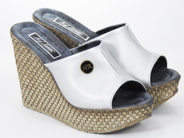 Papuci dama argintii Aline