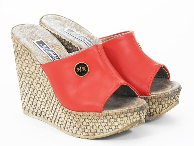 Papuci dama rosii Aline