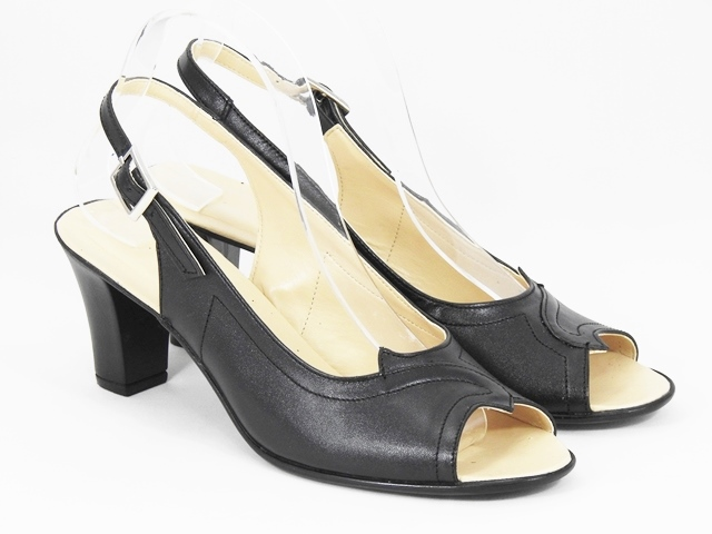 Sandale dama piele negre Bianca
