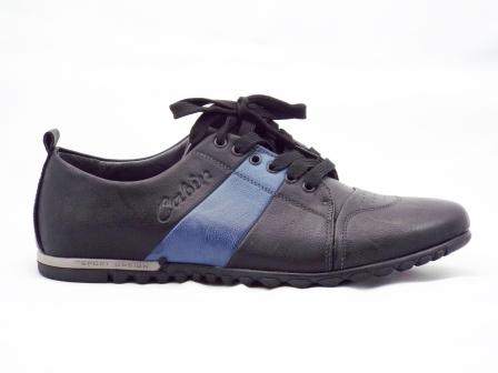 Pantofi barbati negri sport, cu siret si talpa confortabila.