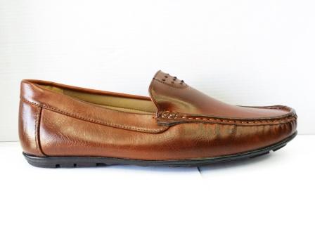 Pantofi barbati maro, piele ecologica, cu talpa comfortabila.